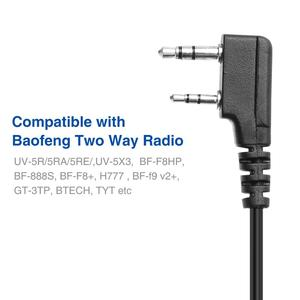 Image 5 - 5個オリジナルbaofeng UV5RハンドマイクスピーカーマイクbaofengポータブルラジオUV 5R BF 888S BF UVB3プラストランシーバー