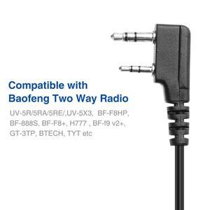 Image 5 - 5pcs Original Baofeng UV5R Handheld Microphone Speaker MIC for Baofeng Portable Radio UV 5R BF 888S BF UVB3 Plus Walkie Talkie