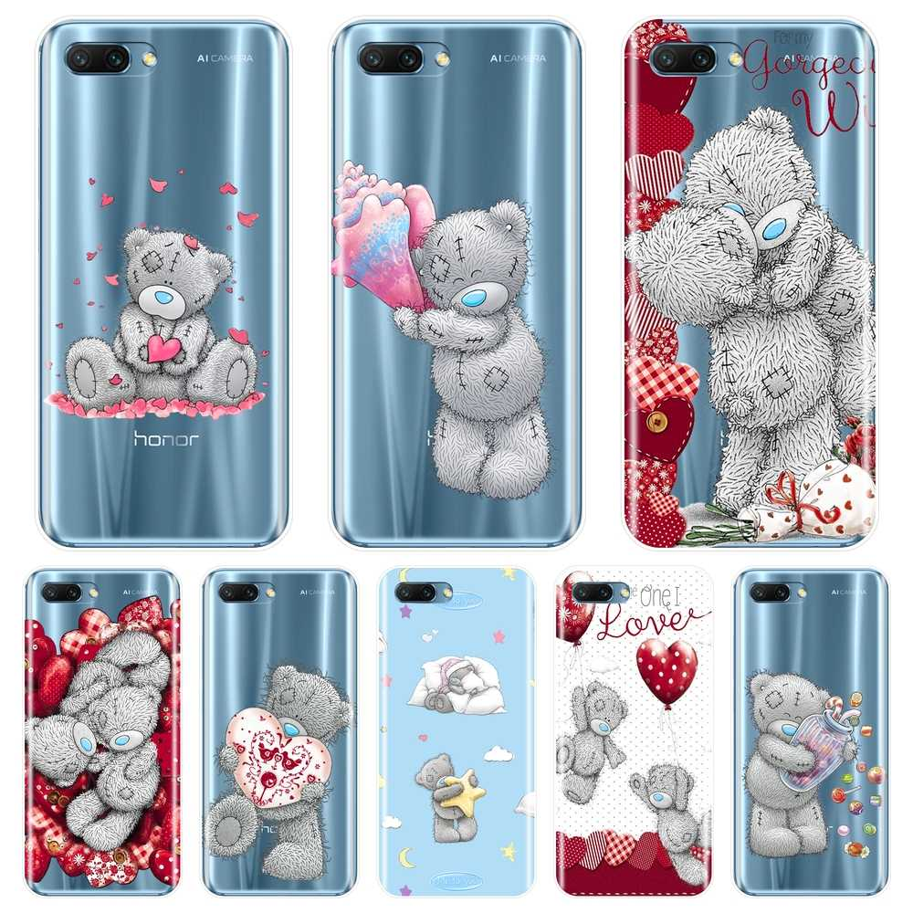 Tatty Teddy Zachte Siliconen Telefoon Geval Voor Huawei Honor 7 8 9 10 Lite 7S 7X 7A 7C Pro back Cover Voor Huawei Honor 8X Max 10 9 8