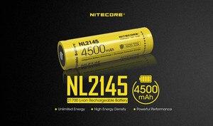 Image 3 - 1pcs NITECORE 21700 battery 3.6V Li ion rechargeable batery 4000mah 4500mah 5000mah NL2140 / NL2145 / NL2150 battery protective