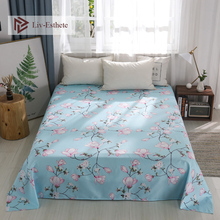 Liv-Esthete Pastoral Flowe Flat Sheet Warm Printed Bed Single Double Queen King Cover Linen For Children Adult 1PC