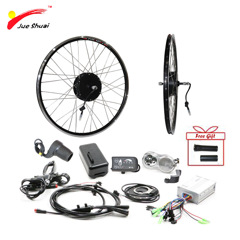 36V 250W 350W 500W Kit de moteur de vélo électrique Kit de Conversion eBike 20''26''700C roue de moteur avant arrière électrique Bicicleta Eletrica