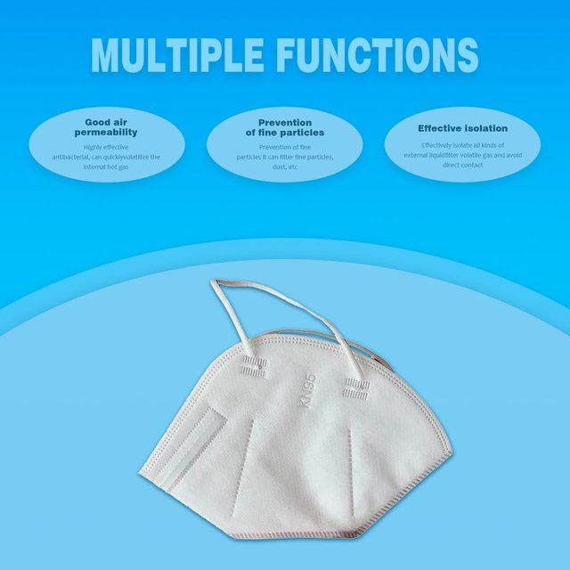 1pc KN95 Anti Flu Mouth Mask 95% Filtration Disposable Outdoor Protective Face Mask Respirator 1