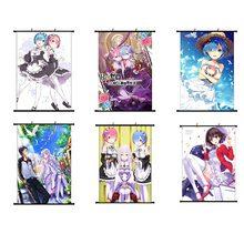 Japon animesi Re: E n e n e n e n e n e n e n e başlangıç ömrü başka bir dünya kaydırma boyama tuval posteri duvar asılı posteri 20*30cm