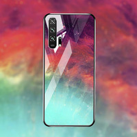 silicone case Tempered Glass Case For Huawei honor 20 9 10 lite Cases Space Silicone Covers for Huawei honor 20 pro 10 9 V20 back cover (4)