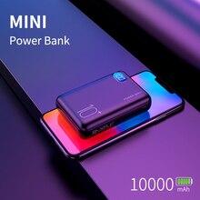 باور بانك صغير لهاتف شاومي ايفون هواوي 10000mAh شاحن شاشة LED خزان طاقة محمول بطارية خارجية شحن سريع ثنائي USB