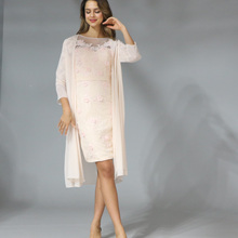 2019 Elegant Lace With Chiffon Tea Length 3/4 Sleeve Mother Of The Brid