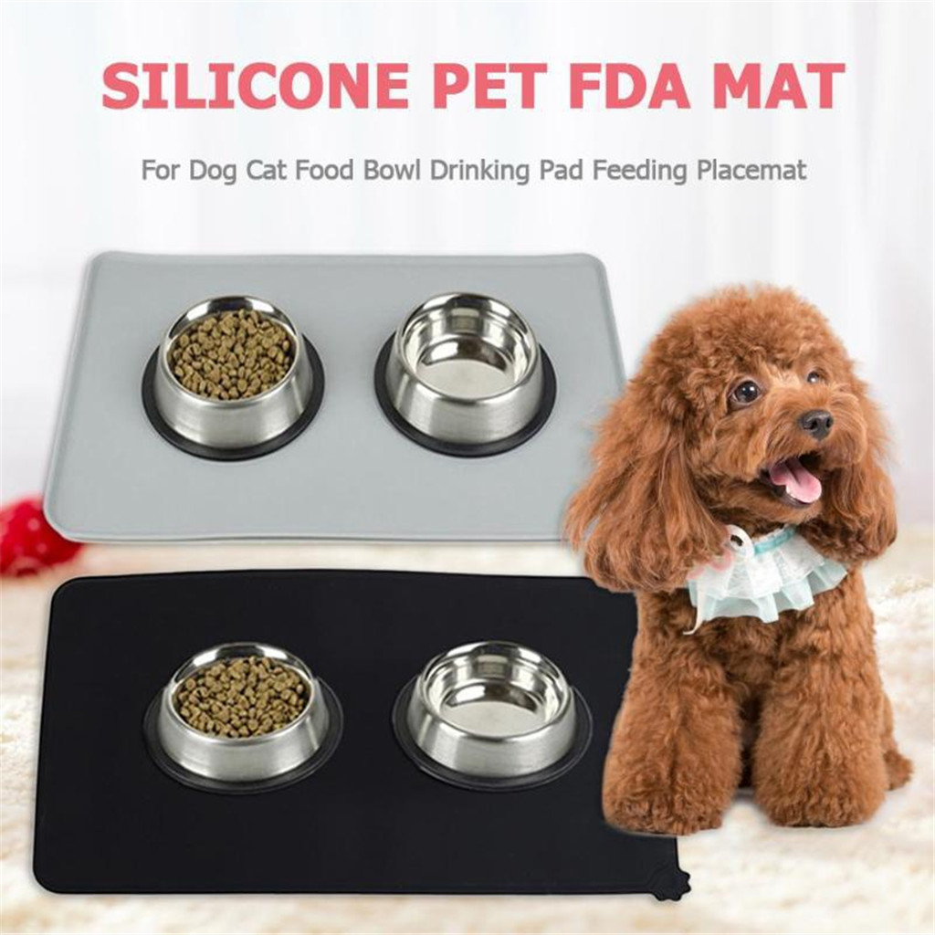 2020 High Quality Dog Food Mat Pet Puppy Cat Feeding Mats Waterproof Dog Food Water Bowl Placemat Support Wholesale