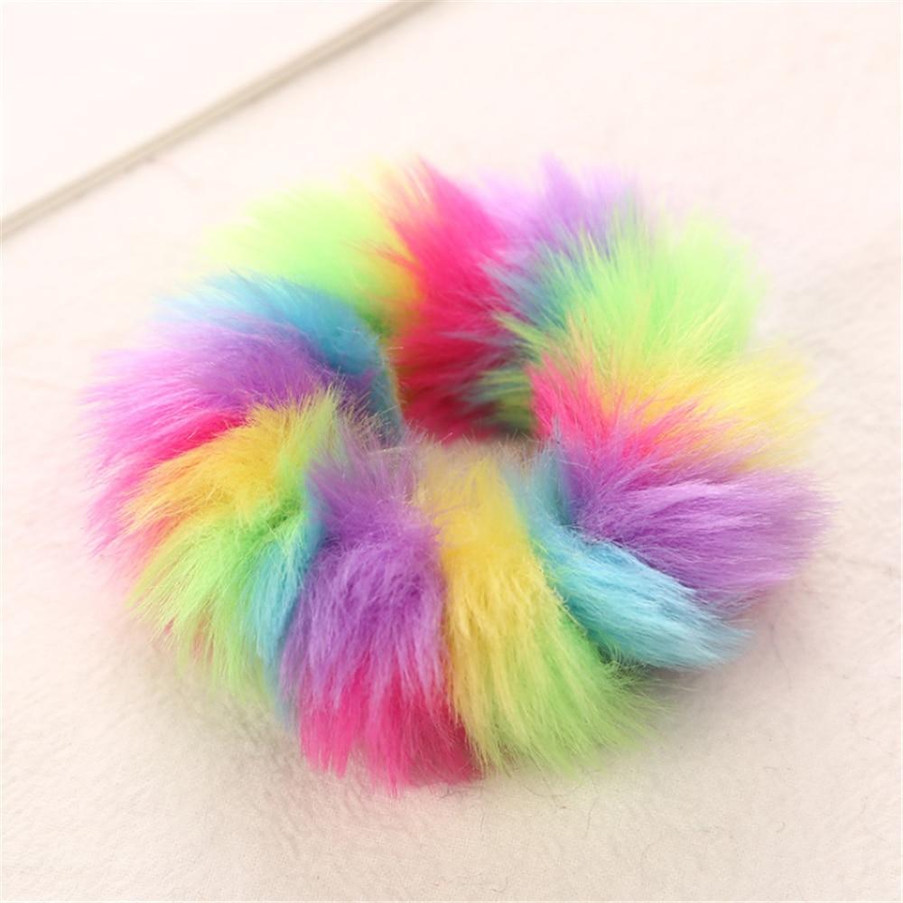 1 шт., новинка, модные разноцветные меховые резинки с леопардовым принтом, эластичные резинки для волос для девочек, теплый конский хвост, держатель для девушек и женщин - Цвет: H