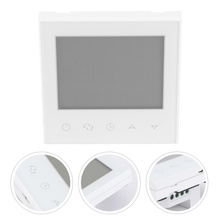 Wireless Touch Smart Digital Programmable WiFi Thermostat for Heating System (White)