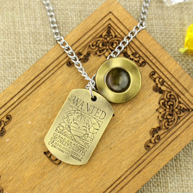 Necklace Soldier Luffy Necklace Wool Hat Road Fly Flying Peripheral Alloy Double Pendant Classic Jewelry - One Piece Store