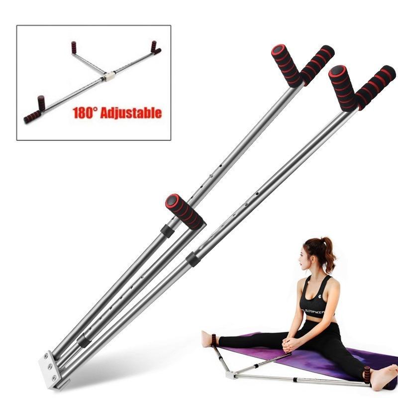 Ligament de jambe d'acier inoxydable de dispositif d'extension de Machine de fente de civière de jambe de 3 barres pour l'équipement d'entraînement d'exercice de Yoga de Ballet