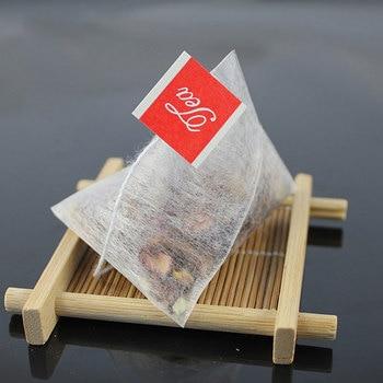 1000pcs/lot PLA Biodegraded Tea Filters Corn Fiber Tea bags Quadrangle Pyramid Shape Heat Sealing Filter Bags food-grade