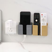 Plug-Holder Organizer Remote-Control-Storage-Box Wall-Mounted Usb-Charging-Stand Air-Conditioner