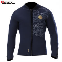 Slinx 5mm diving wetsuit jackets men neoprene jacket for diving kitesurfing clothes suit front zip(China)