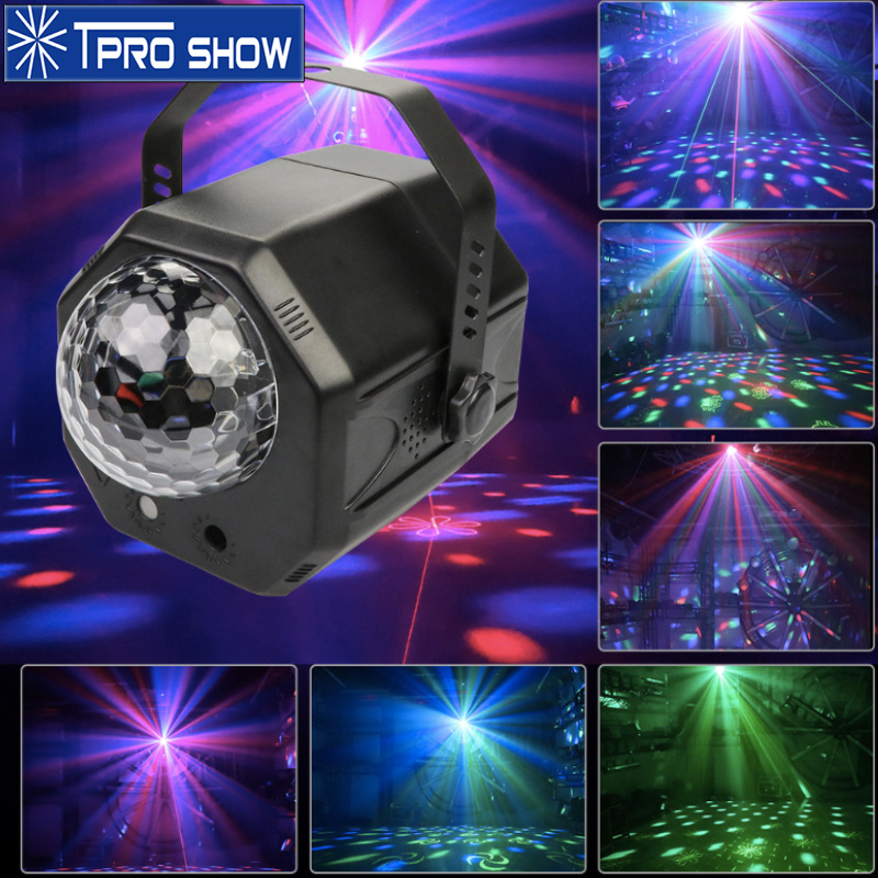 Remote LED Disco Light Magic Ball Laser Projector Sound Party Light Music Activated DJ Lighting Effect For Christmas Party Club|Stage Lighting Effect| |  - title=