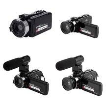 16X דיגיטלי זום וידאו מצלמה מצלמת וידאו 1080P HD WIFI רחב זווית עדשה/חיצוני מיקרופונים שלט רחוק