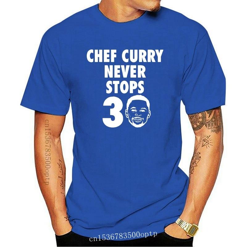 Men t shirt CHEF CURRY NEVER STOPS (30% OFF) tshirts Women t-shirt