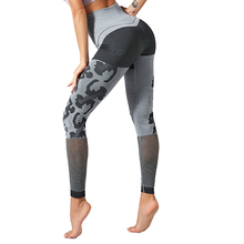 CHRLEISURE Sexy High Waisted Gym Leggings Women Fitness Pants Breathable Hollowing Out Sport Yoga Tights