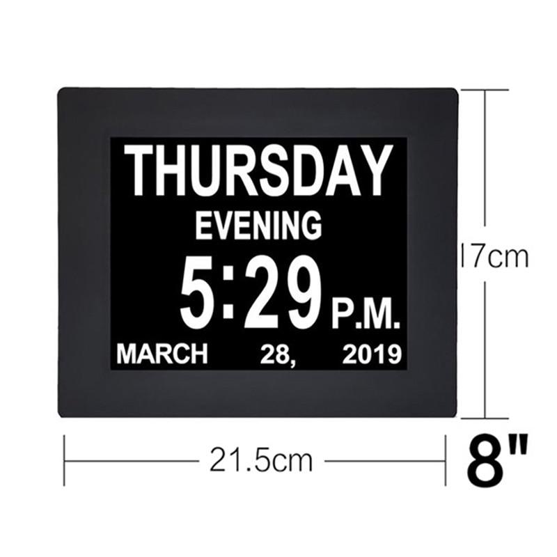 With Adapter Clock TFT Screen Wall Mounted Display Calendar Digital 8