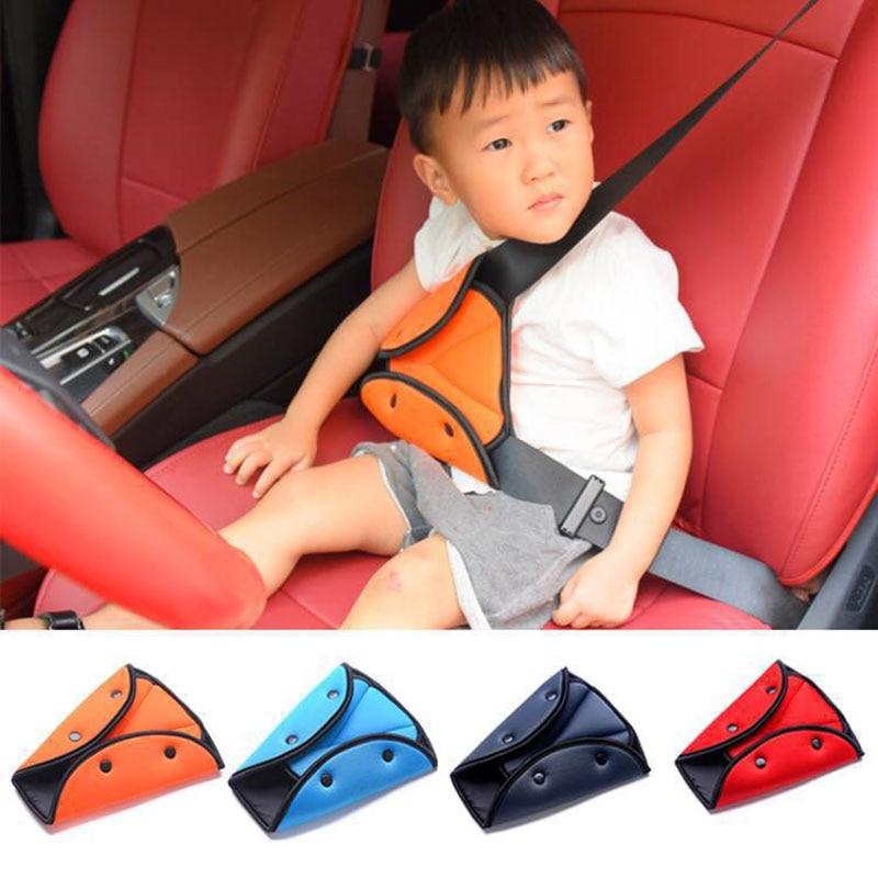 Car Safe Seat Belt Cover Soft Adjustable Children Safety Belt Fixer Triangle Anti-ledge For Child Neck Shoulder Protection Belts