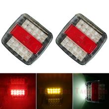 2 sztuk 12V przyczepy światła tylne LED Stop Turn Signal z jednej strony oświetlenie tablicy rejestracyjnej ciężarówka łódź tylna lampa tanie tanio Taochloe CN (pochodzenie) Lampa tylna Zgromadzenia Taillight 10 8cm Plastic 12 v 0 15kg Brake Lamp