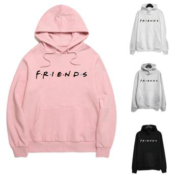 Yfashion Women Fashion Friends Letter Printing Long Sleeve Hooded Sweatshirts
