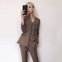 New Spring Women Suits Pants Suit Temperament Suit Jacket 2 Pieces Set Female Wear To Business