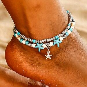 Новинка 2020, золотые браслеты на щиколотку из ракушек для женщин, украшения для ног, Летний Пляжный браслет, цепочка на ногу для женщин