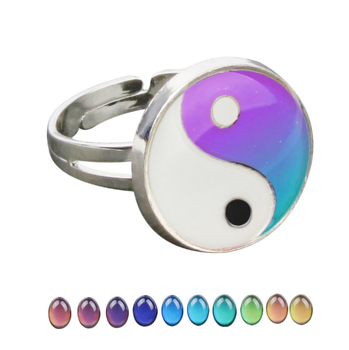Yinyang Mood Ring Color Change Mood Ring Adjustable Emotion Feeling Changeable Temperature Ring 1PC Dropshipping