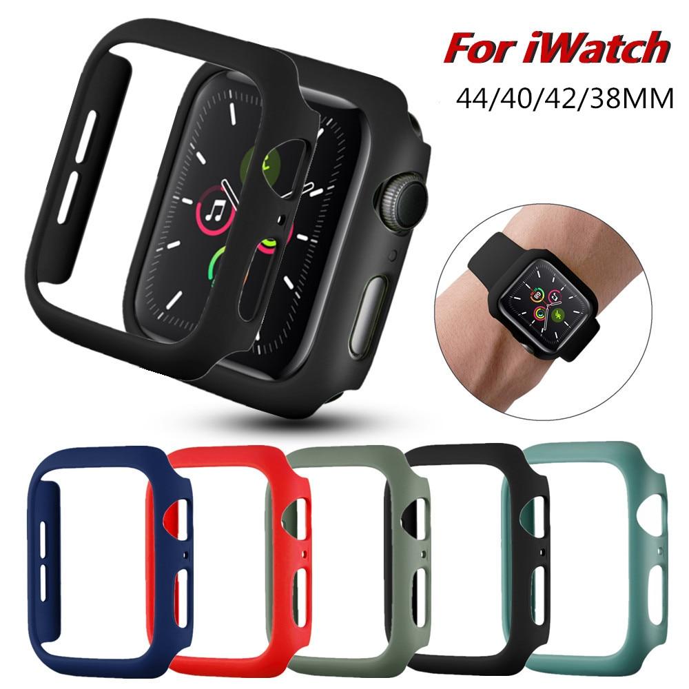 Многоцветный инжекционного метода литья чехол для Apple Watch серии iPhone SE/6/5/4/3/2 PC Защитная крышка тонкий металлический бампер для наручных часов...