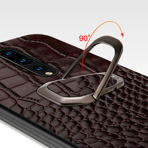 Image 5 - Genuine Leather Ring bracket Magnetic phone case for oneplus 7 7pro 6 6T Luxury cover for One plus 7 7t pro 5 5t case Fundas