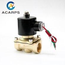 """1/2 """"3/4"""" נמוך לחץ 10bar פליז מים גז סולנואיד שסתום 24VAC 110VAC 12VDC EPDM חותם"""