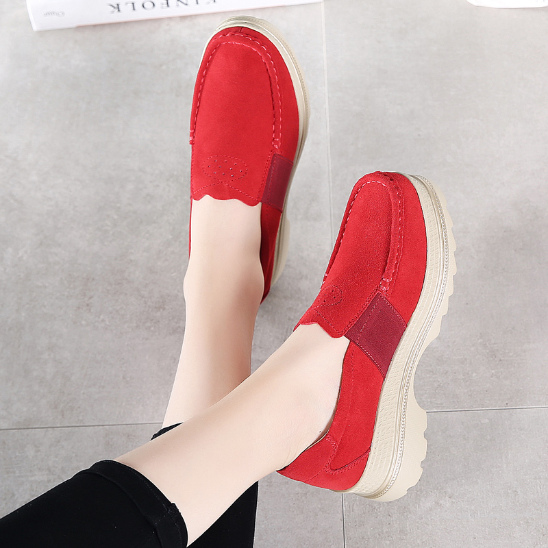 Image 3 - STQ 2020 Autumn Women Platform Sneakers Shoes Oxford Shoes For Women Slip On Loafers Shoes Casual Flat Sneakers Shoes 5068Womens Flats   -