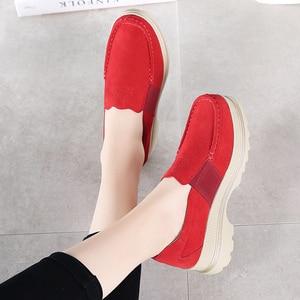 Image 3 - Женские кроссовки на платформе STQ, 2020 черный цвет, оксфорды, слипоны, лоферы, повседневные, плоская подошва, на осень, 5068