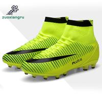 New Adults High Ankle Plus Size Men's Outdoor Soccer Cleats Shoes High top TF/FG Football Boots Training Sports Sneakers Shoes|Soccer Shoes| |  -
