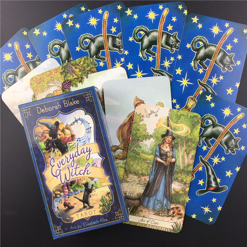 Everyday Witch Tarot Card English Board Game Playing Card Guidance Divination Fate Tarot Deck Cards For Party Entertainment