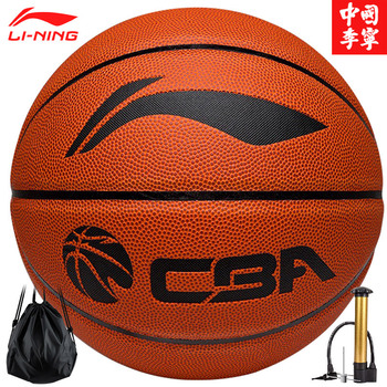Li Ning Size 7 CBA game series basketball high-elastic sweat-absorbent PU wear-resistant цена 2017