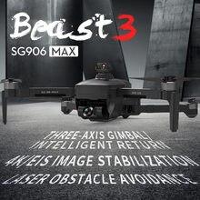 Zangão máximo de sg906/sg906 pro3/sg906 pro com 5g 4k evo uhd câmera mecânica cardan wifi gps drones distância 1.2km vôo 26 minutos