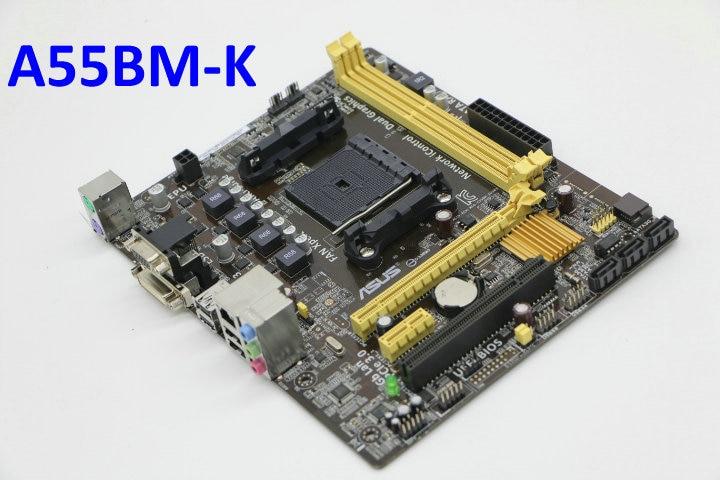 MicroATX Desktop Motherboard A ASUS A55BM-K AMD Socket A55 FM2