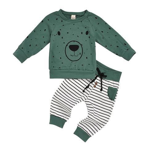 2020 conjuntos de roupas do bebe meninos urso dos desenhos animados criancas meninos roupas da