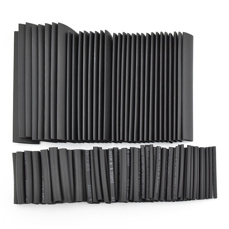 8 Meter 1set 21 Black Heat Shrink Tube 1 2 3 4 5 6 8 10mm Heat Shrink Tubing DIY PVC Tube 10mm Termoretractil Sleeving Connector 2