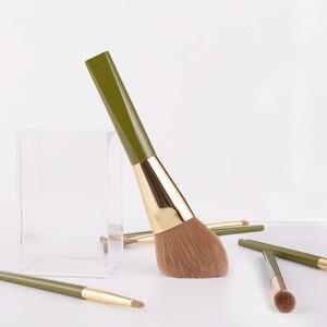 Image 4 - ANMOR 8Pcs Traveling Makeup Brushes Set Powder Blush Eye Shadow Blending Eyeshadow Make Up Brush Top Quality Pincel Maquiagem
