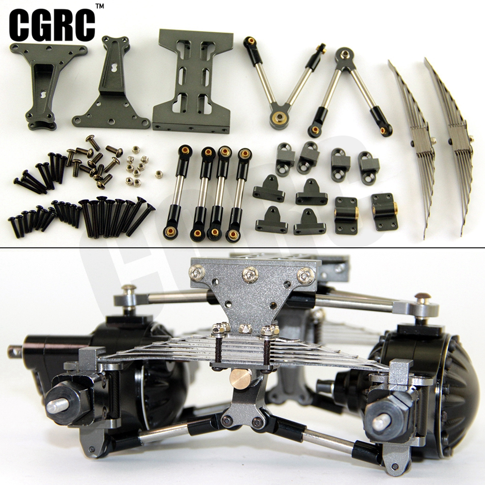 Metal Rear axle suspension Assembly Outfit Kit For <font><b>Tamiya</b></font> <font><b>1/14</b></font> <font><b>RC</b></font> <font><b>Truck</b></font> Tipper Scania Actros Lesu MAN Actros R470 R620 F16 image