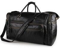 MAHEU 60cm Hohe Kapazität Echtem Leder Reisetasche Duffle Taschen Männer Männlichen Reisen Hand Gepäck Big Größe Schwarz Herren wochenende Tasche
