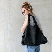 Eco friendly tote bag 100% linen size 38x52x16cm|Storage Bags| |  -