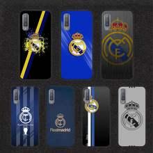 Real madrid club caso de telefone para samsung galaxy s7 s8 s9 s10e s20 mais nota 10 pro plus lite nota 20 uitra caso escudo