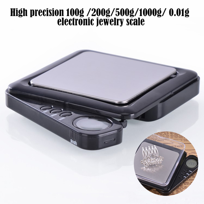 100g * 0.01g Mini Digital Scale Kitchen Scales Steelyard jewelry scales balance LCD for weighing spice diamonds coins