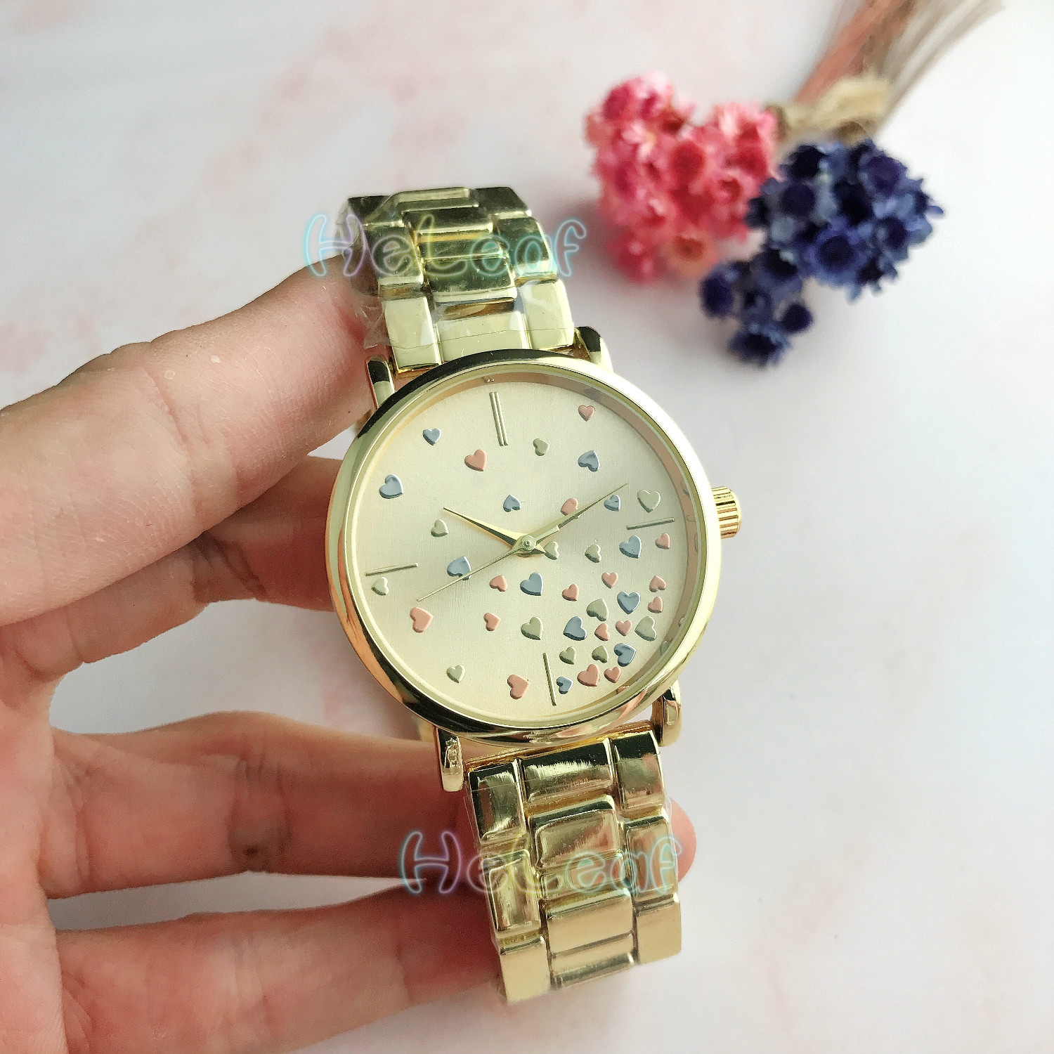 Luxury Brand Stars Ladies Watches Hot Sale Lady Silver Gold Full Steel Quartz Watch Female Clock Montre Femme Relogio Feminino