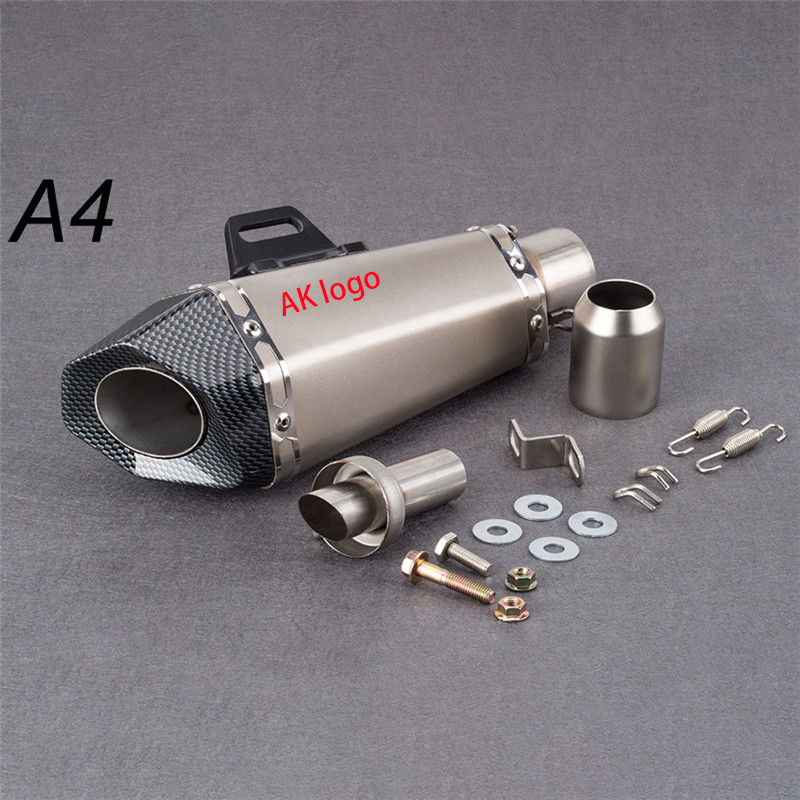 Moto 51mm Motorcycle exhaust pipe mufflersmall hexagon exhaust with DB killer for Z900 MT09 KTM390 CBR1000 R6 FZ8 R25
